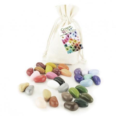 Kredki Crayon Rocks w bawełnianym woreczku – 32 kolory