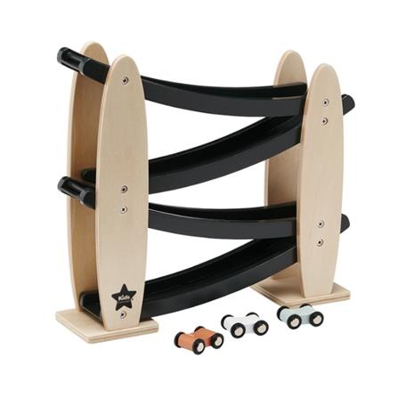 Kids Concept Zjeżdżalnia Drewniana Czarna