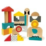 Petit Collage Klocki Drewniane Zwierzęta