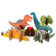 Petit Collage Puzzle Przestrzenne Dinozaur