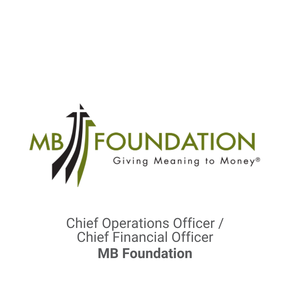 Chief Operations Officer : Chief Finanical Officer Executive Search_MB Foundation DB&A Executive Search