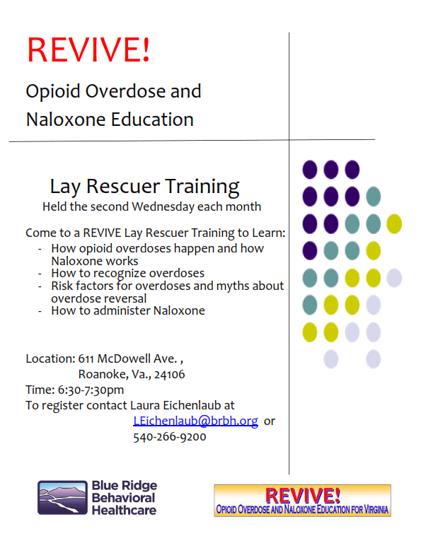 Revive Opioid Overdose And Naloxone Education Lay Rescuer Training