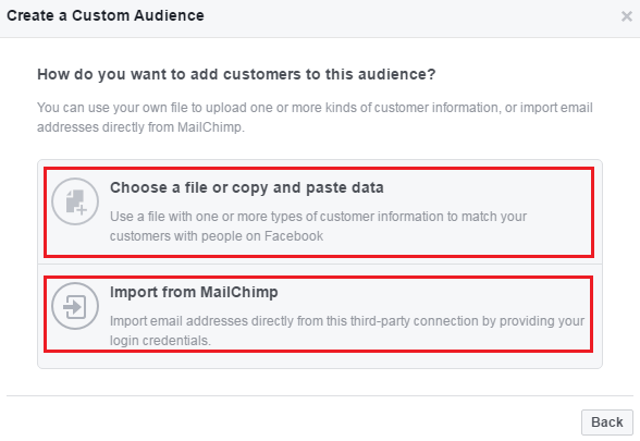 how to create a custom facebook audience