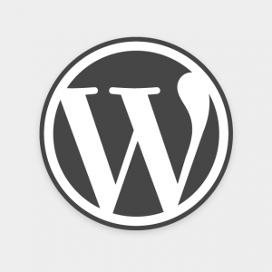 Gray WordPress Logo