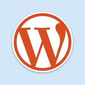 Orange WordPress Logo