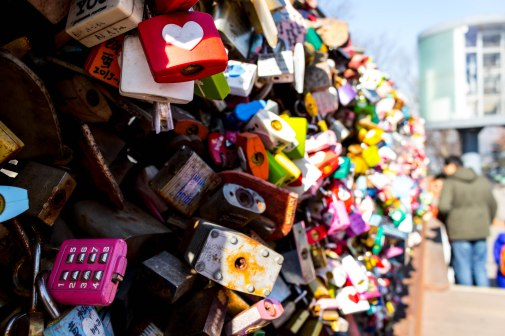 locks at the N Seoul Tower