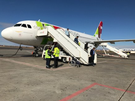 arrival onto the African continent!