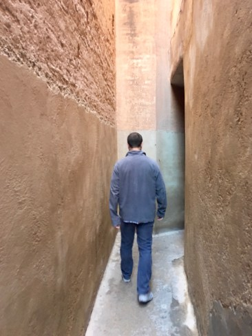 how narrow some of the alleys were