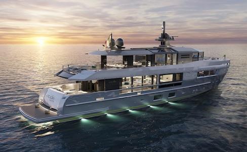Arcadia Yacht A115, l'interazione tra esterni e interni con uno stile rinnovato