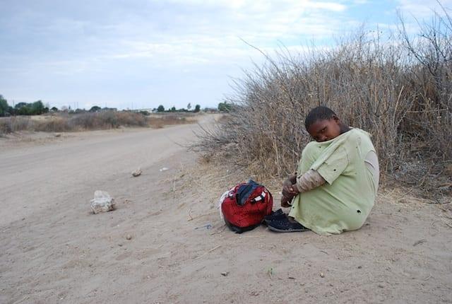 Aspettando un passaggio per il Kalahari