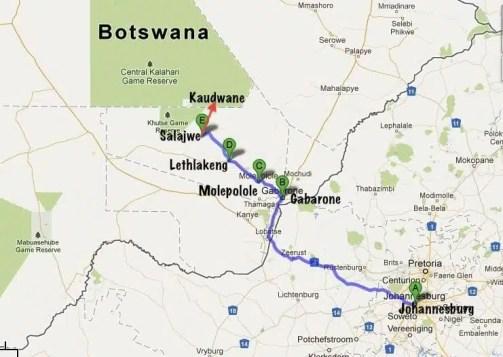 Da Johannesburg a Kaudwane