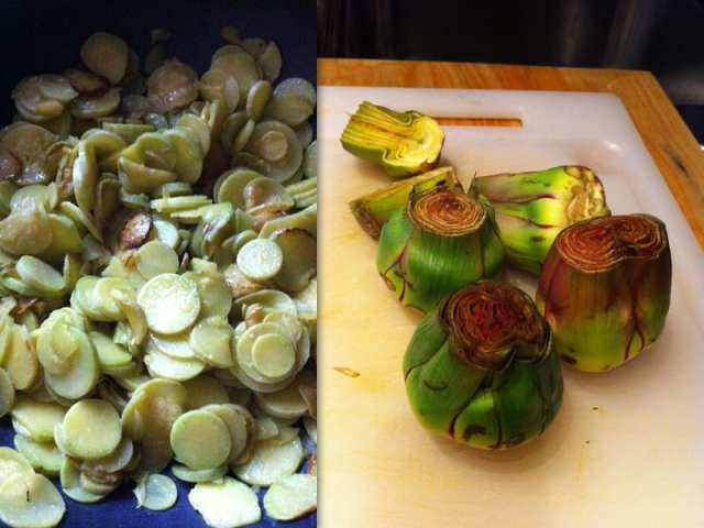 Zucchine trombetta e carciofi di Albenga