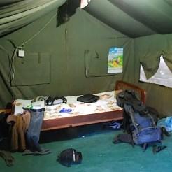 La mia tenda con la chiusura difettosa a Juba (Sudan del Sud).