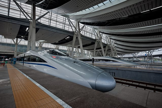 CRH Beijing-Shanghai train at Beijing South Station