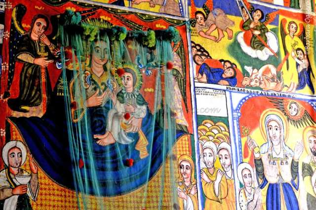 La vita dei santi sui dipinti della penisola di Zege in Etiopia