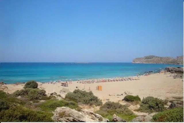 La spiaggia cretese di Falasarna