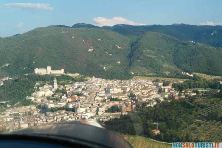 Trevi, Umbria - volo con ultraleggero