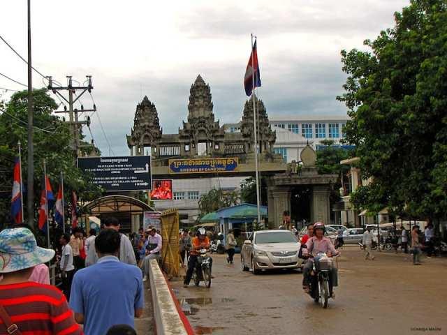 Confine con la Tailandia - Poipet, Cambogia