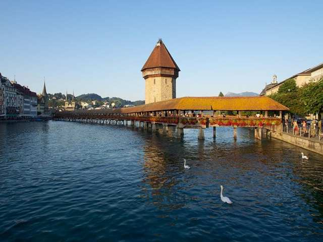 Kapellbrücke - Lucerna, Svizzera