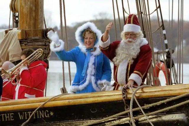 L'arrivo di Babbo Natale a Rostock - Germania