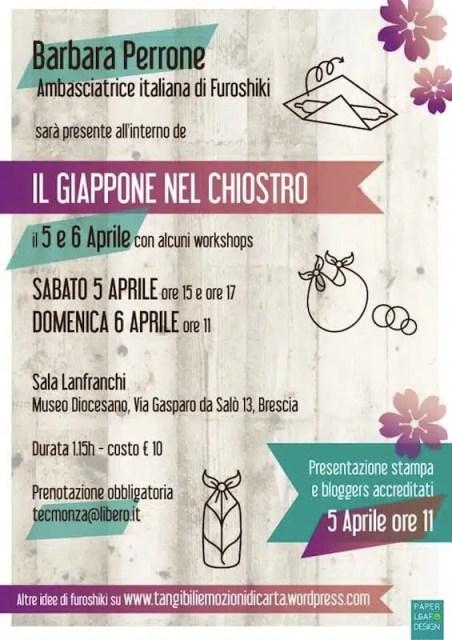 Furoshiki Workshop, Il Giappone nel Chiostro - Brescia, Italia
