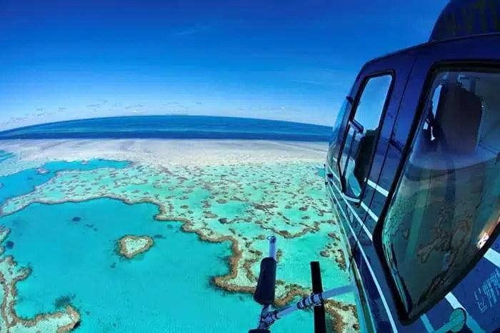 Helicopter over Whitsunday Islands - Australia