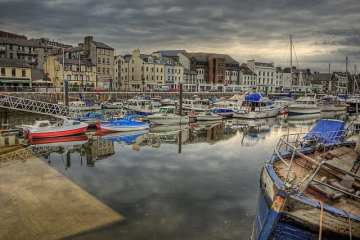 The Marina in Douglas, Isle of Man