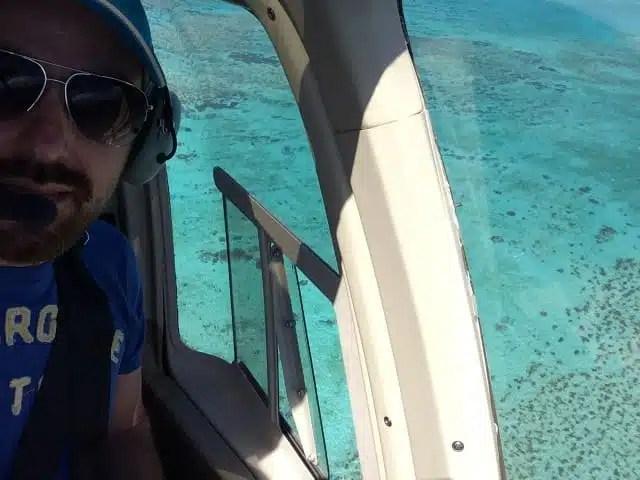 In elicottero sulla barriera corallina Australia