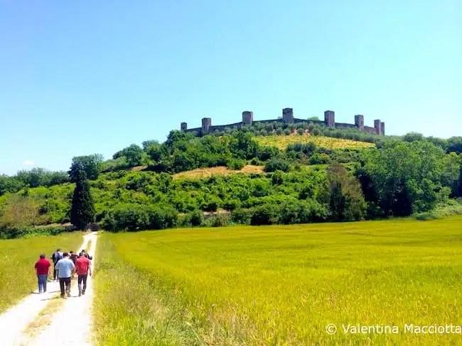 Via Francigena, Monteriggioni - Toscana, Italy
