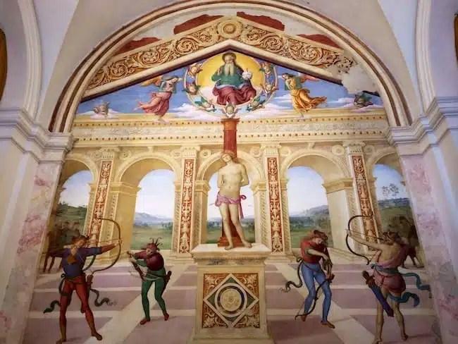 Saint Sebastian's Martyrdom, Pietro Perugino - Church Of Saint Sebastian - Panicale, Italy