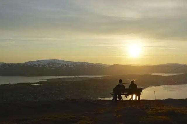 Sole di mezzanotte a Tromso, Norvegia