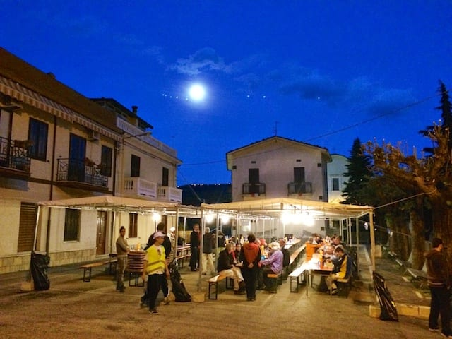 La cena al Sentiero della Libertà, Abruzzo