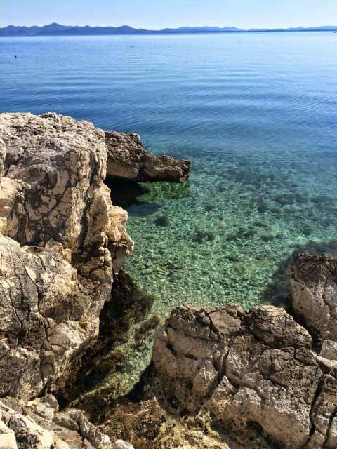 Il mare di fronte l'Hotel Diadora, falkensteiner, Croazia
