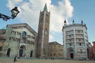 Arte a Parma piazza Duomo