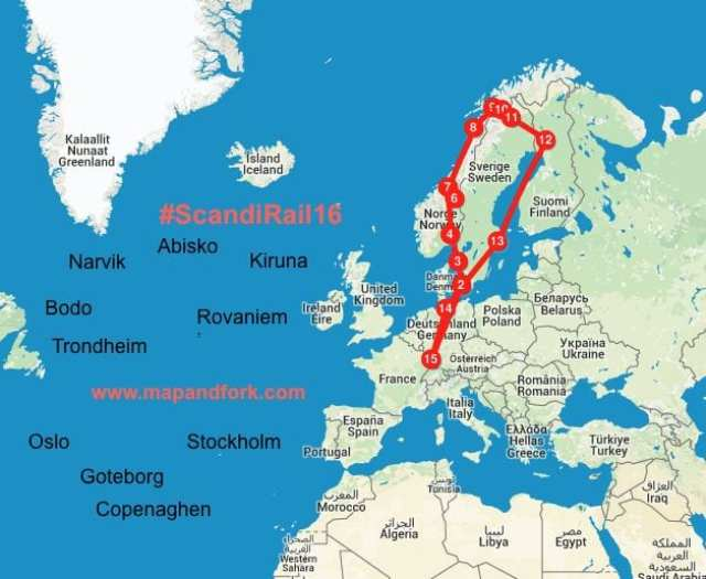 #ScandiRail16 - Interrail in Scandinavia