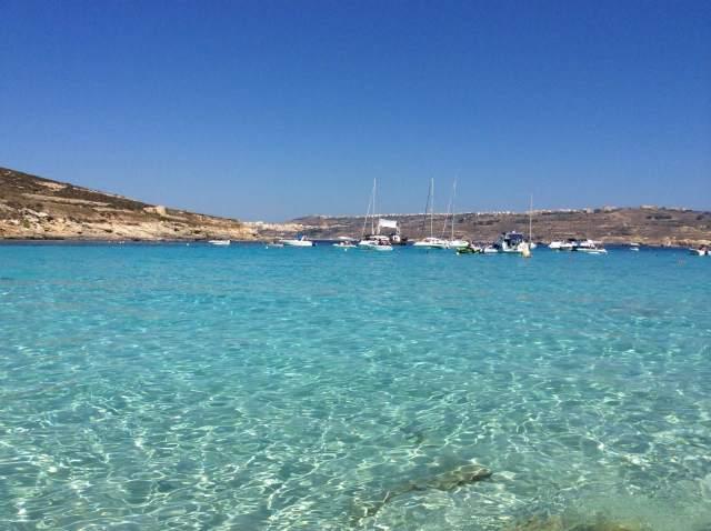 La laguna blu a Comino, Malta