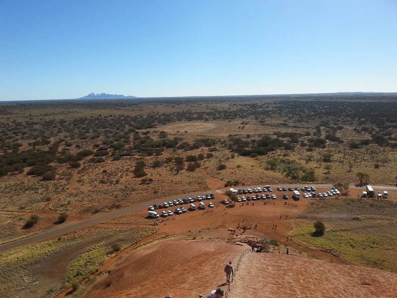 Uluru scalata