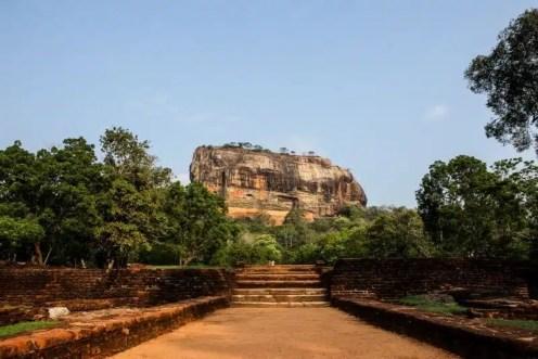 Veduta della Rocca di Sigiriya