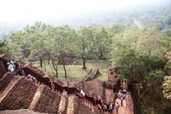 I gradini della Rocca di Sigiriya