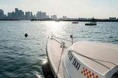 Vista di Boston dal Water Taxi
