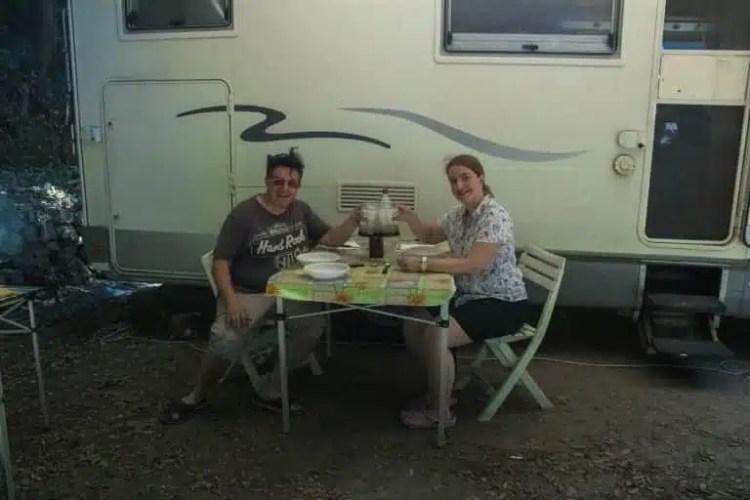 pranzo con il camper