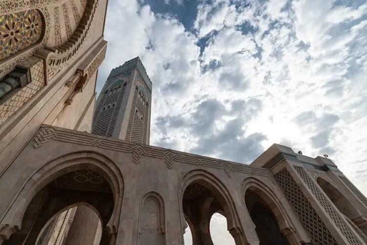 Il minareto della Moschea di Hassan II