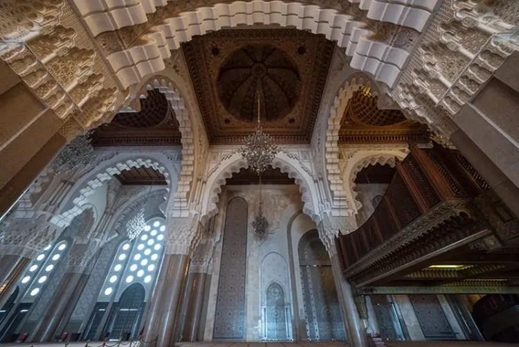 Interno della Moschea di Hassan II