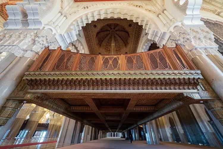 Interno della Mosche di Hassan II