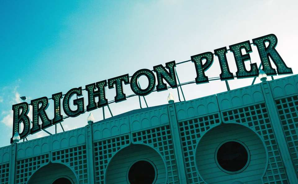 L'insegna del Brighton Pier