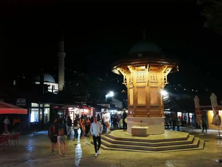 Piazza Sebilj a Sarajevo