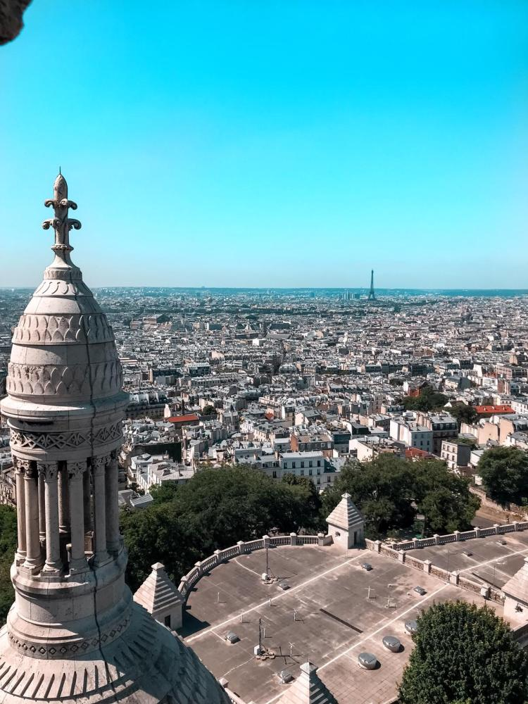 la vue depuis le dôme de la basilique du Sacré-Cœur (Sacré-Cœur)