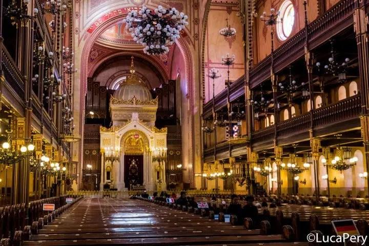 La sinagoga nel quartiere Ebraico budapest