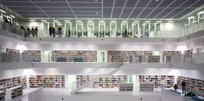 Inside the new Stadtbibliothek am Mailänder Platz in Stuttgart @Thomas Guignard, CC BY-NC-SA 2.0