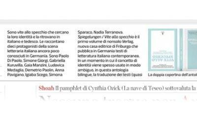 Corriere della Sera: «Vite allo specchio» di dieci scrittori italiani